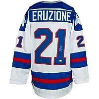 Mike Eruzione Signed Custom White USA Hockey Jersey JSA ITP photo