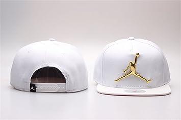 Jordan Snapback Hats Caps (White With Metal Logo)  Amazon.co.uk ... f4b912d4fd6
