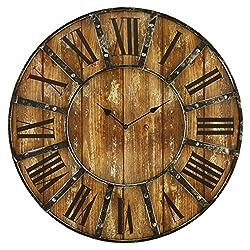 Aspire Edmonson Wall Clock, Brown