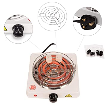 Kertou Cocina Eléctrica para Shisha CACHIMBA Carbón HORNILLO 600W Hot Plate Electric Cooking (Blanco)
