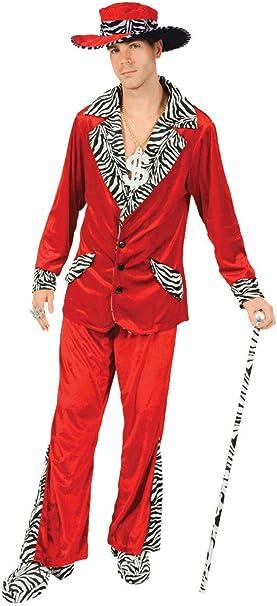 ORION COSTUMES Disfraz de Traje de Chulo de Terciopelo Rojo de los ...