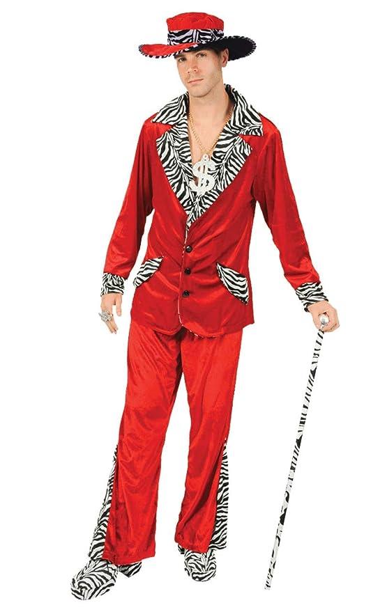 ORION COSTUMES Disfraz de Traje de Chulo de Terciopelo Rojo ...