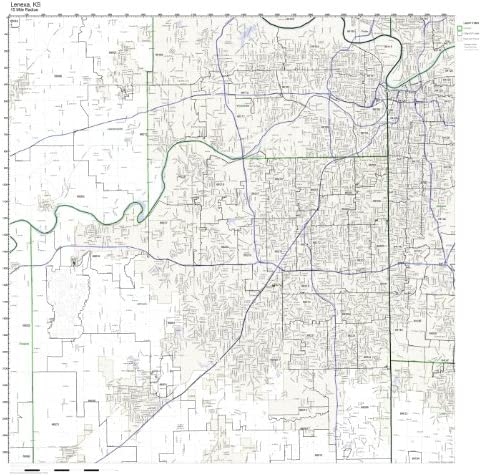 Amazon.com: Lenexa, KS ZIP Code Map Laminated: Home & Kitchen