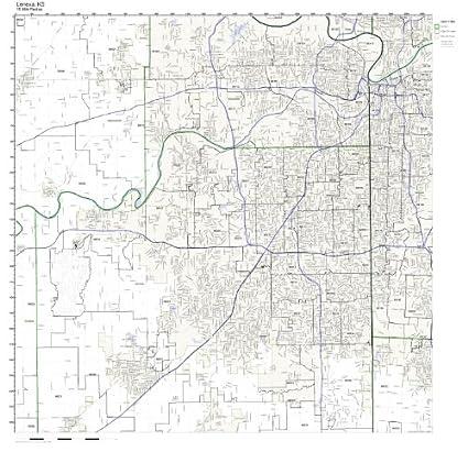 Lenexa Kansas Map.Amazon Com Lenexa Ks Zip Code Map Not Laminated Home Kitchen