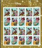 The Art of Disney: Celebration, Full Sheet of 20 x 37-Cent Postage Stamps, USA 2005, Scott 3912-15