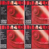 Thomastik-Infeld IR100 Red Violin Strings, Complete Set, 4/4 Size, Synthetic Core
