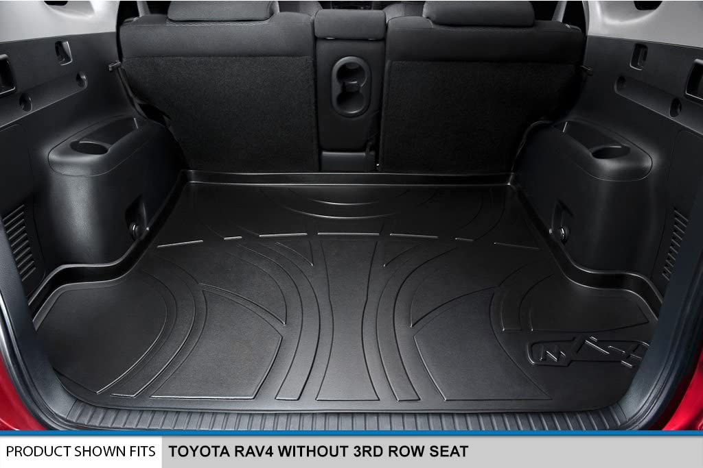 Without 3rd Row Seat Black MAXLINER D0051 Tray Cargo Liner for Toyota RAV4 2006-2012