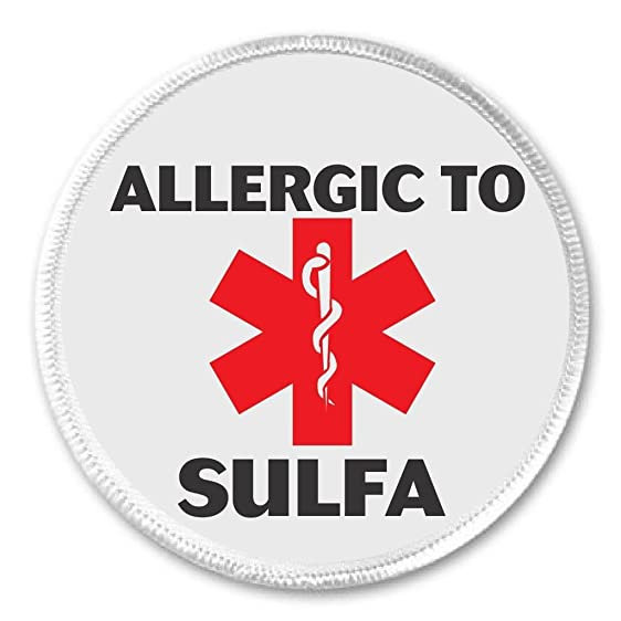Amazon Allergic To Sulfa 3 Sew On Patch Medical Alert Symbol