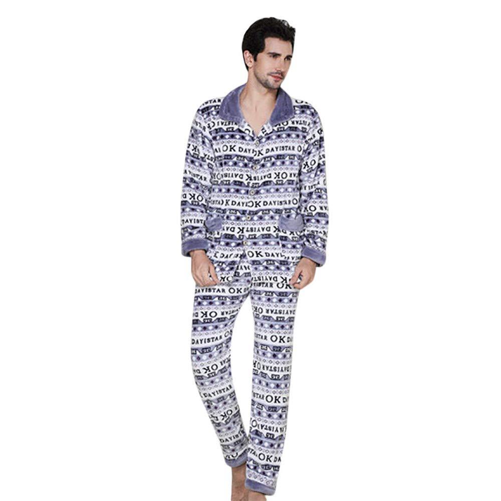 Quelife Man Cotton Nightgown Casual Nights Sleepwear Short Sleeves Thicken Sleepshirt (White,XXXL)