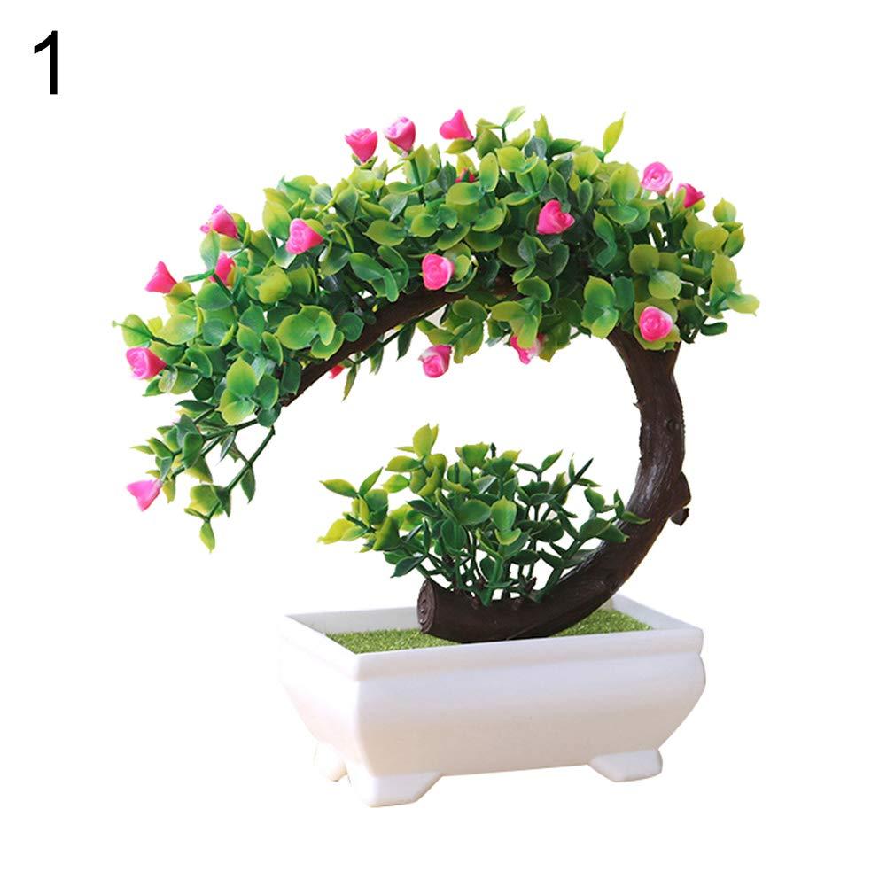 Colorido 造花 盆栽 造花 オーナメント デスク装飾 プラスチックツリー 家庭 オフィス 装飾用 I03RO5XQBW6D B07HH7QGK1 1#