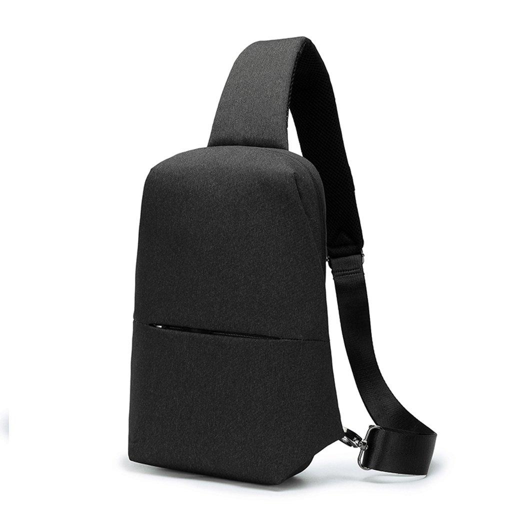 69b09df61 Paquete de de de pecho de color puro Oxford pa ntilde o de satchel ligero  ocio al aire libre bolso de la cintura de los hombres de deportes solo  bolso ...