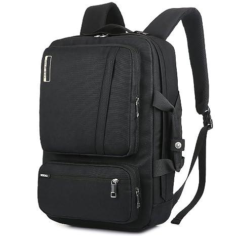117c0e045c2e SOCKO 17 Inch Laptop Backpack Convertible Backpack Travel Computer Bag  Hiking Knapsack Rucksack College Shoulder Back