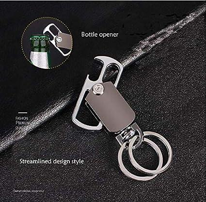 EnjoyULife Alloy Key Chain with 2 Detachable Key Rings Power /& Elegance Black Creative Car Keychain Luxury
