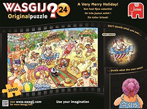 Jumbo Wasgij Original 24 A Very Merry Holiday Jigsaw Puzzle 1000 Piece