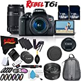 6Ave Canon EOS Rebel T6i DSLR Camera w/18-55mm Lens International Version (No Warranty) + Canon 55-250mm IS STM Lens + Canon EF 50mm f/1.4 USM Lens 2515A003 + Deluxe Cleaning Kit Bundle