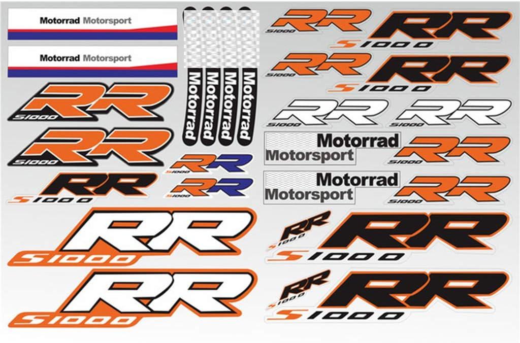 PSLER/®Motorrad Reflektierende Aufkleber Kraftstofftank Aufkleber f/ür HP4 Orange