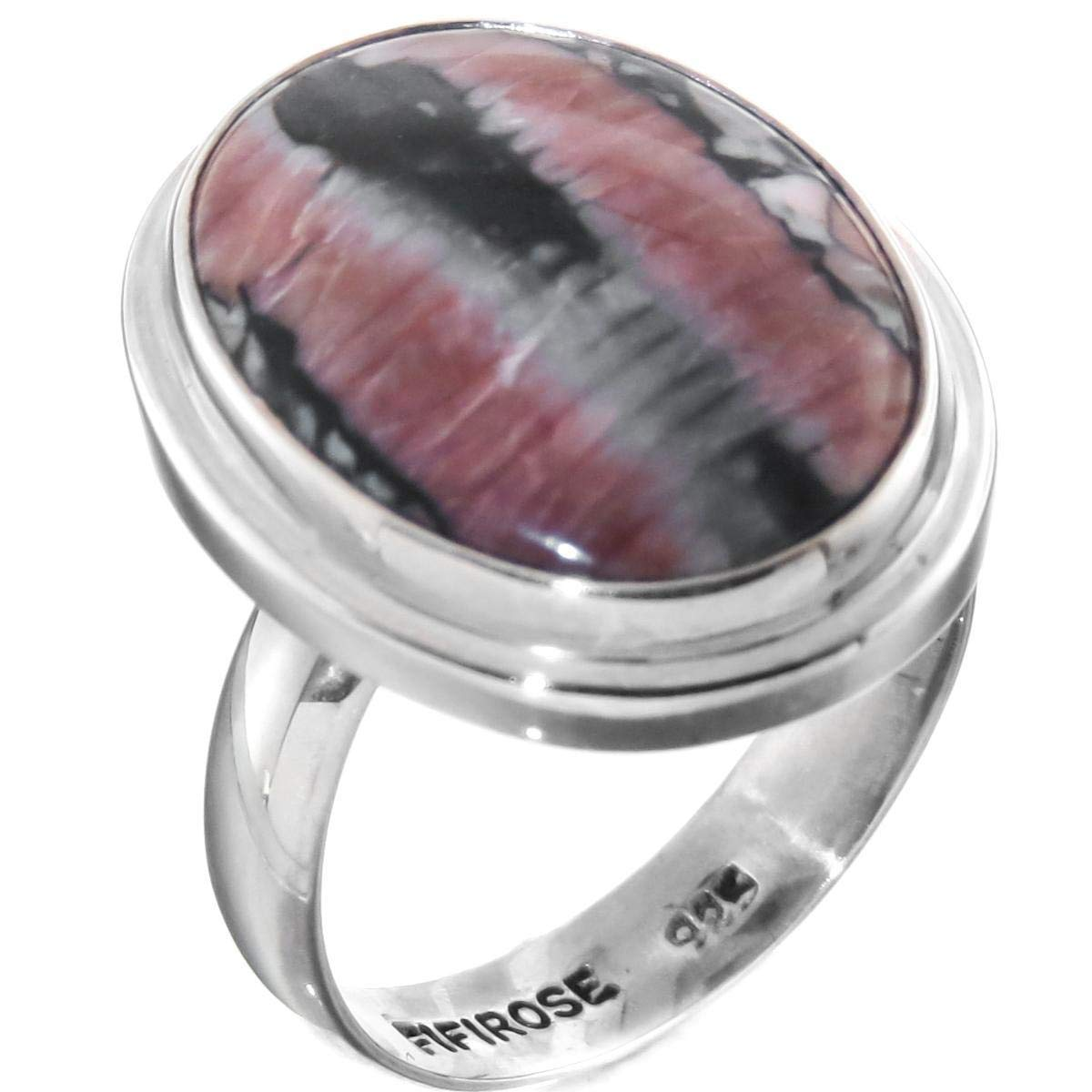 7//8 Crinoid Fossil 925 Sterling Silver Adjustable SZ 8 Ring YE-3100
