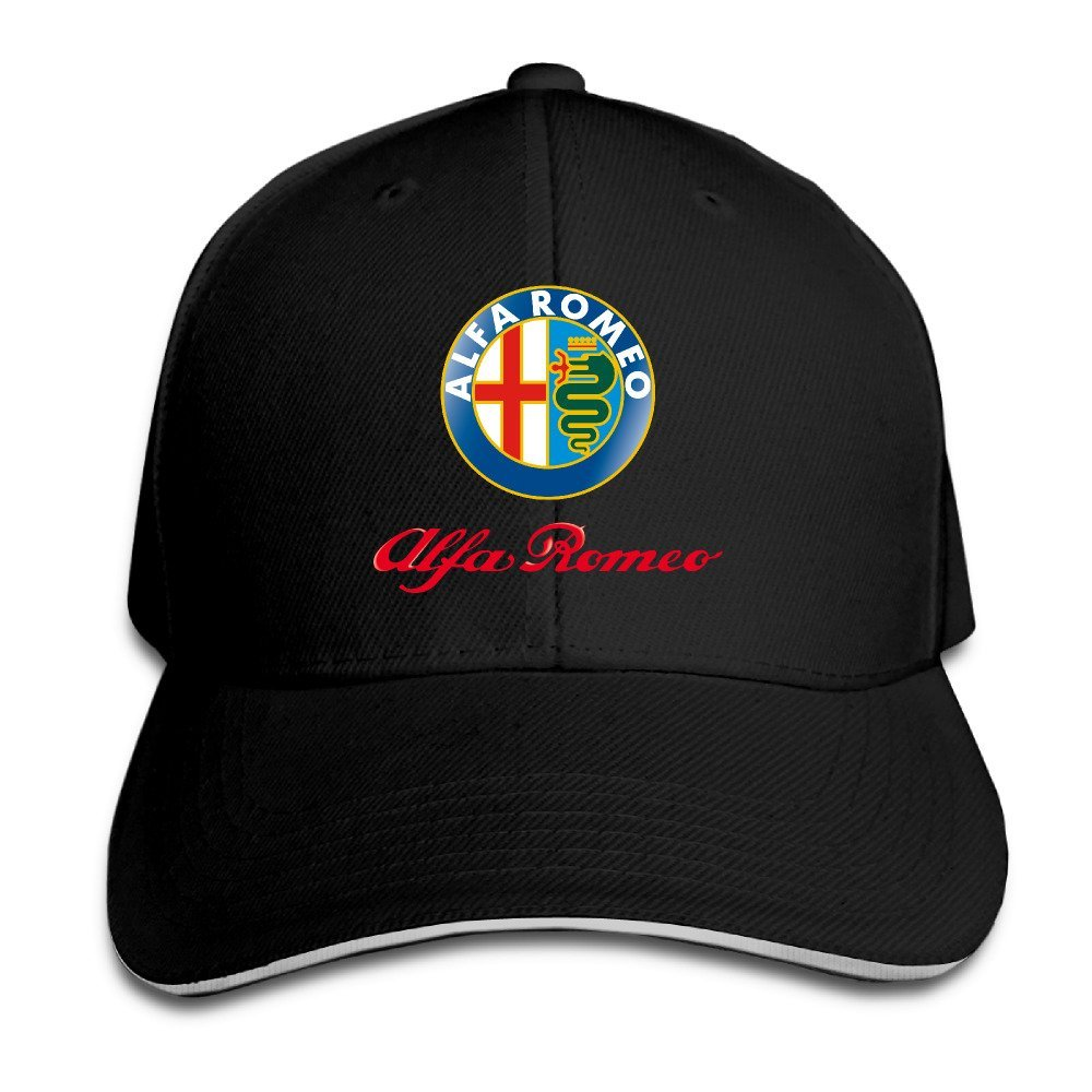 Hittings Alfa Romeo Sandwich Baseball Caps For Unisex Adjustable Black