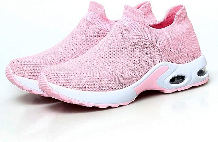 FeiTai - Zapatillas de Running para Mujer (Ligeras, sin Cordones ...