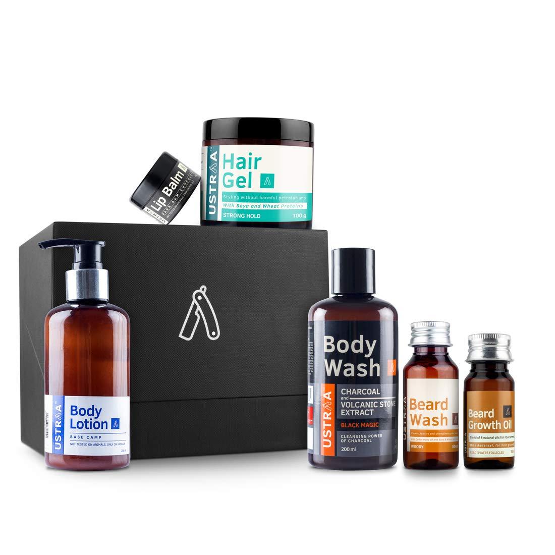 Ustraa Gift For Men (Beard Growth Oil, Beard Wash, Body