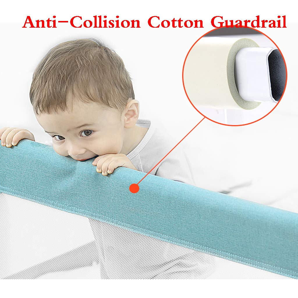 Bed Guard Portable and Foldable Bed Rail for Baby Portable Folding Bed Rail Single Bed Guard Safety Protection Guard for Toddler Baby and Childre by SONGTING Guardrail (Image #4)