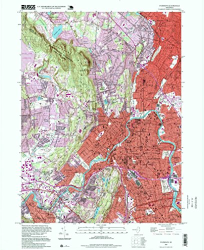 Paterson NJ topo map, 1:24000 scale, 7.5 X 7.5 Minute, Historical, 1995, updated 1999, 27 x 22 IN - - Woodlands Drive Lake