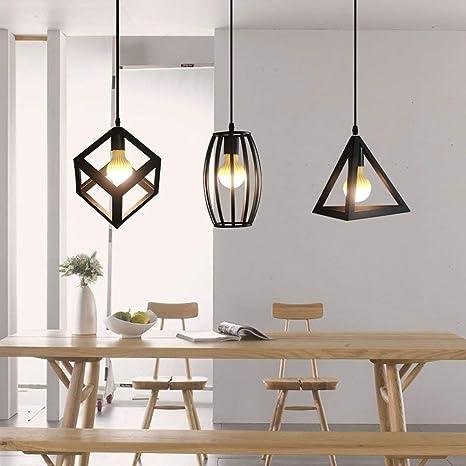 Loonju - Lámpara de techo colgante de estilo retro para ...