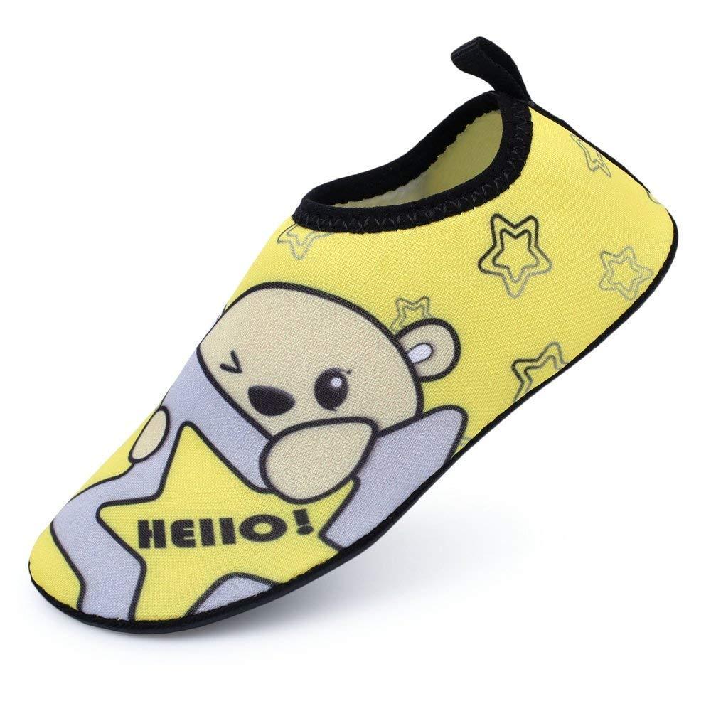 b994757537ba LINGMAO Boys Water Shoes Barefoot Swimming Skin Shoes Aqua Socks ...