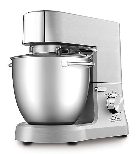 Moulinex Masterchef QA810D01 - Robot de cocina y repostería profesional 1500 W con kit de masas metálico, bol XL de 6,7 L, 4 posibilidades de ...