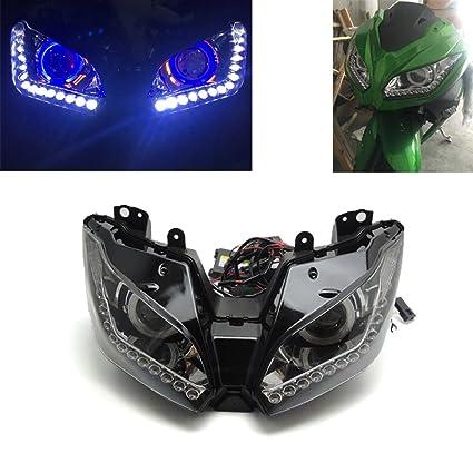 ZX-6R HID proyector LED Angel Eye Lámpara Asamblea de los ...