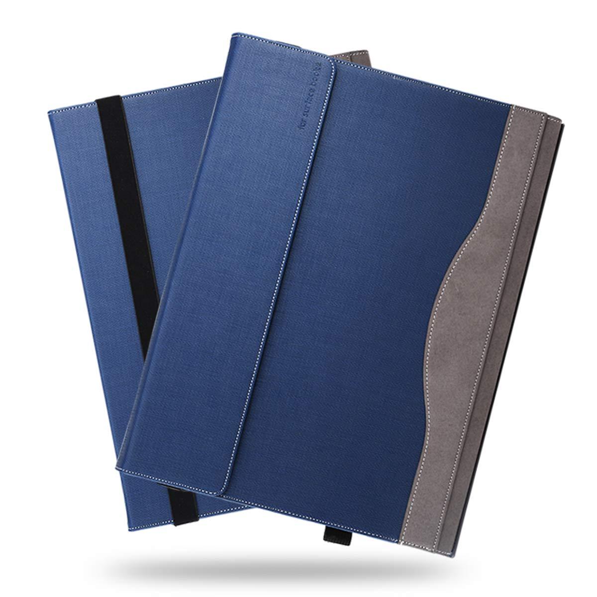 【ふるさと割】 Microsoft Surface 15インチ用 Book 2 15インチケース 高級本革ケース Surface ハンドメイド スタンド付き フリップカバー ハンドメイド Microsoft Surface Book 2 15インチ用 ダークブルー B07LC6YZGH, シューズブティック ナナ:9efc3821 --- a0267596.xsph.ru
