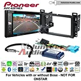 Volunteer Audio Pioneeer AVIC-6201NEX Double Din Radio Install Kit with GPS Navigation Apple CarPlay Android Auto Fits 2004-2007 Chevrolet Malibu, 2005-2009 Pontiac G6 (With Bose)