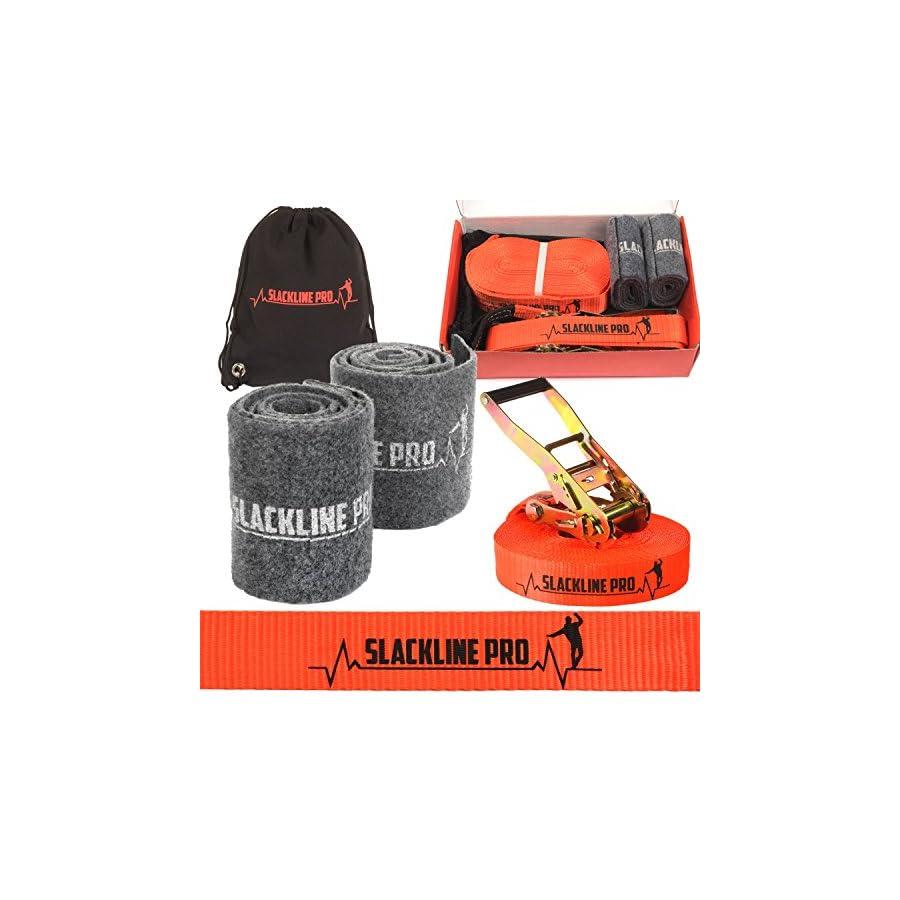 Slackline Kit: 52 Foot Classic Trickline Slackline Set for Slackers of all ages from Slackline Kids to Slack Line Adults