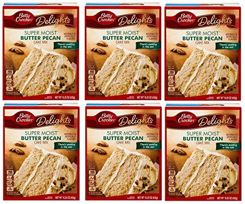 SIX (6) Pack Betty Crocker Super Moist Butter Pecan Cake Mix Bundle Bundle of 6-Items Betty Crocker Butter Pecan Cake