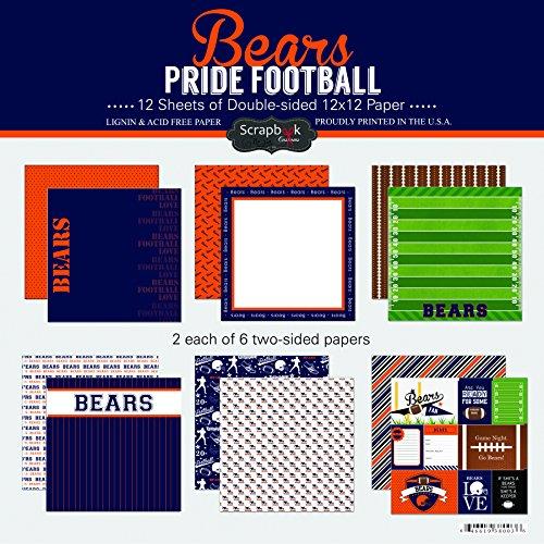 Scrapbook Customs Bears Pride Football Scrapbook (Bear Pride Design)