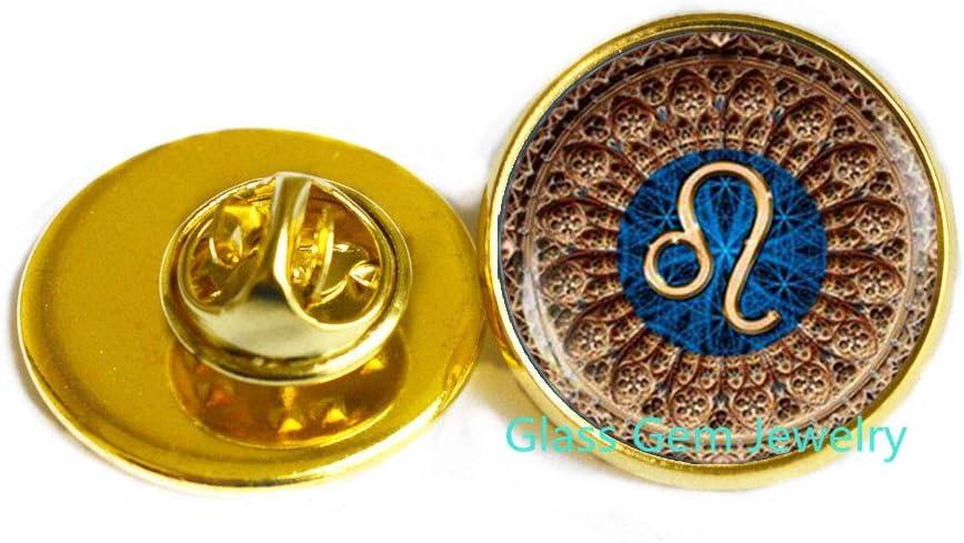 glass gem jewelry Leo Sternzeichen Brosche, Leo PIN, Leo