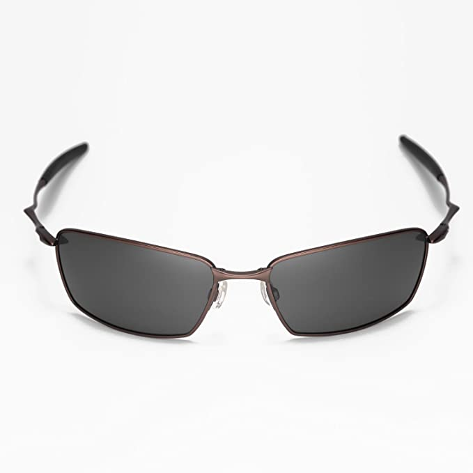 d7b9523a8d Amazon.com  Walleva New Polarized Titanium + Black Lenses For Oakley Square  Whisker  Sports   Outdoors