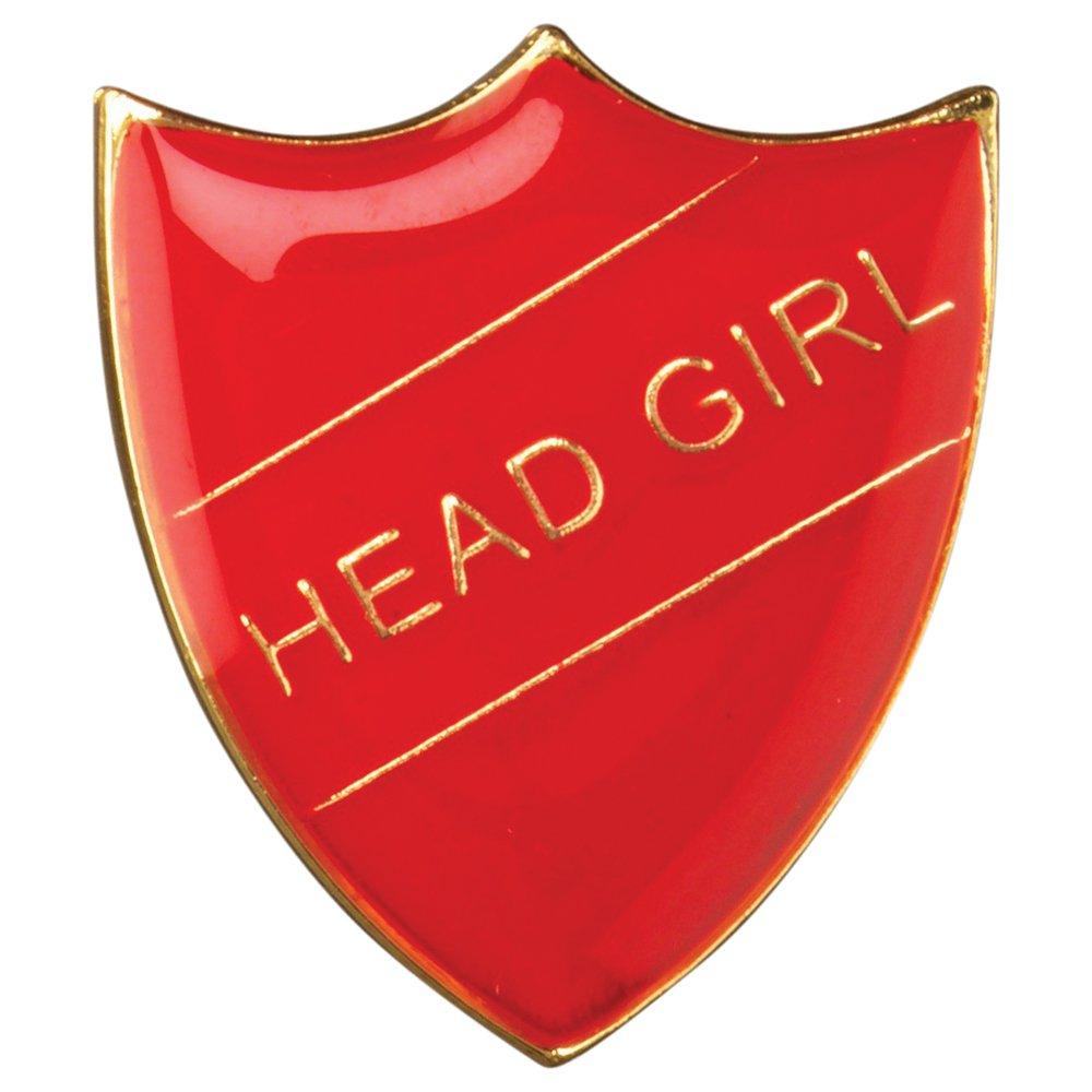 Head Girl Shield Badge Red Large 3cm GW/SR3