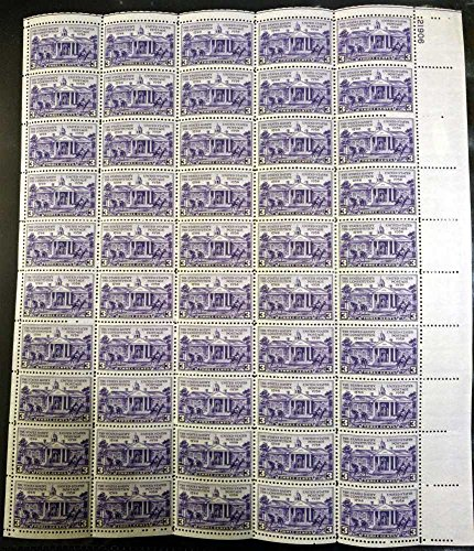 US Stamp - 1938 Constitution Ratification-50 Stamp Sheet - - Us 835