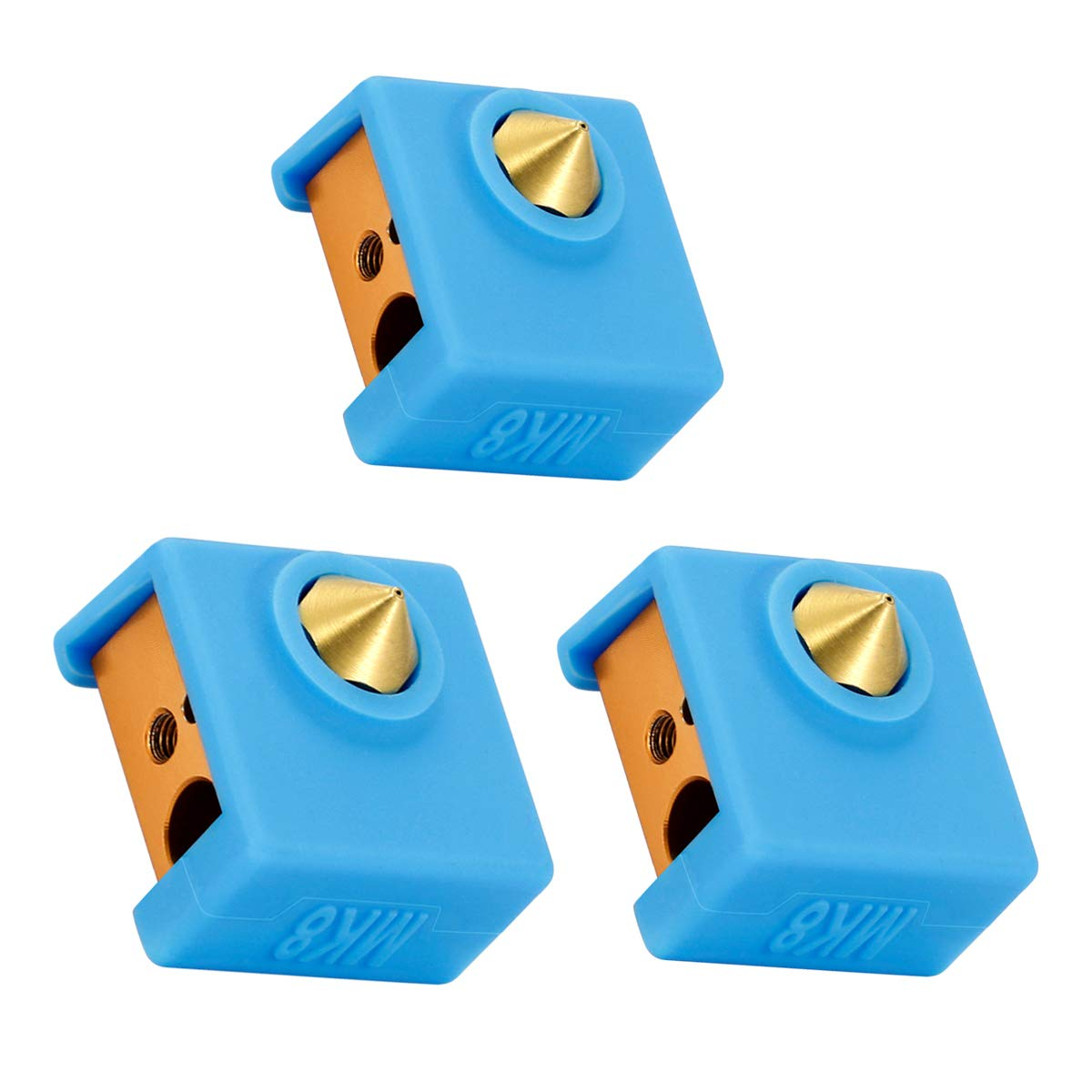 Ewigkeit MK8 Silicone Sock Heater Block Cover MK7/8/9 Hotend for Creality CR-10,10S,Ender 3,Anet A8 3D Printer(not Include Heater Block))