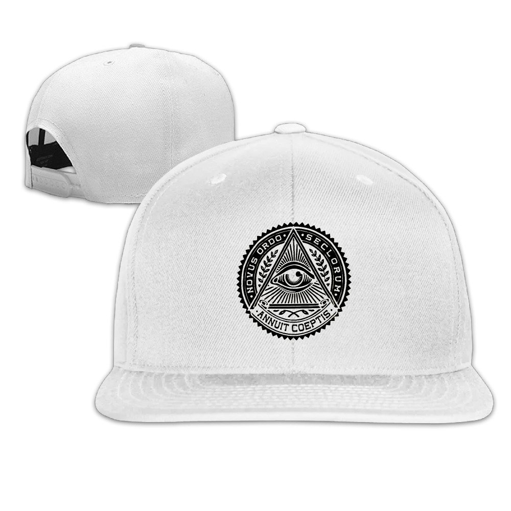 889e02da958 Flat-along Adjustable Illuminati Secret Society Eyes Pyramid Caps Cool Snapback  Hat  Amazon.ca  Clothing   Accessories