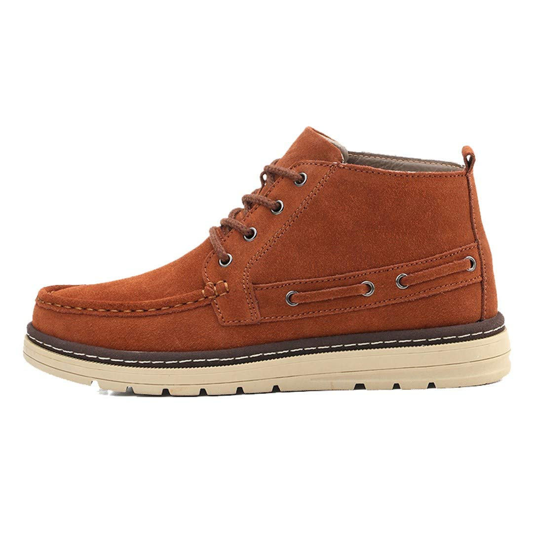 211e633a97f1 TRULAND Men s Suede Leather Lace Up Ankle Boat Deck Chukka Sneaker Boots  Textile Fur Lining  Amazon.co.uk  Shoes   Bags