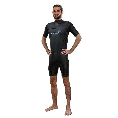 8ced7c7c8e Amazon.com: Ivation 3mm Wind-Resistant Short Wetsuit for Men ...