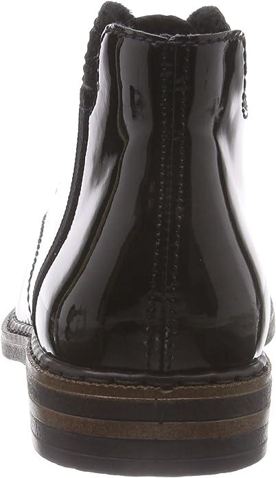 41 leicht gefüttert NEU Rieker Stiefelette schwarz rote Akzente Gr #98