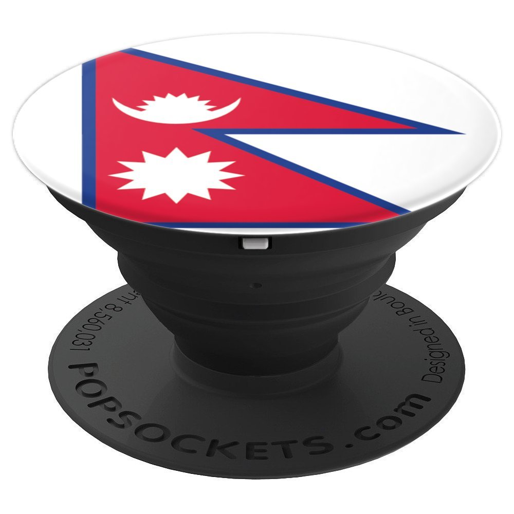 Nepal Flag Nepali Flag Pride Vacation Travel Souvenir - PopSockets Grip and Stand for Phones and Tablets