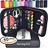#10: Best Sewing Kit Bundle with  Scissors, Thimble, Thread, Needles, Tape Measure, Carrying Case and Accessories