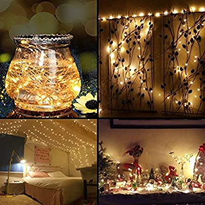 LED Christmas String Lights 99 Feet 300 LEDs, Decobree Dimmable Festival Decorative Starry Lights for Seasonal Holiday, Waterproof, UL Listed Copper Wire Lights, Warm White