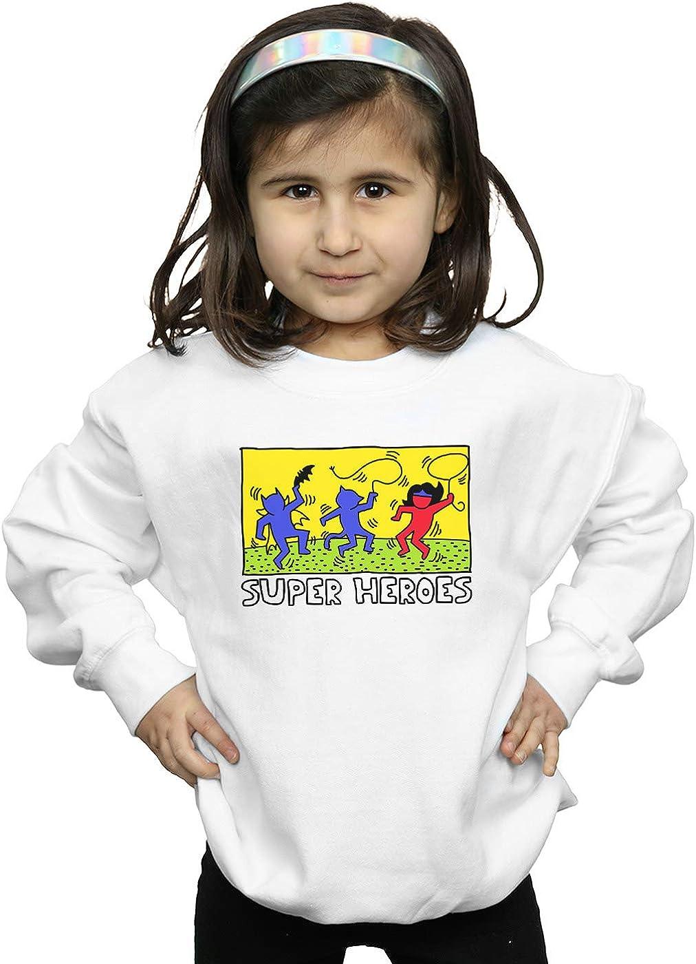 DC Comics Girls Batman Pop Art Sweatshirt