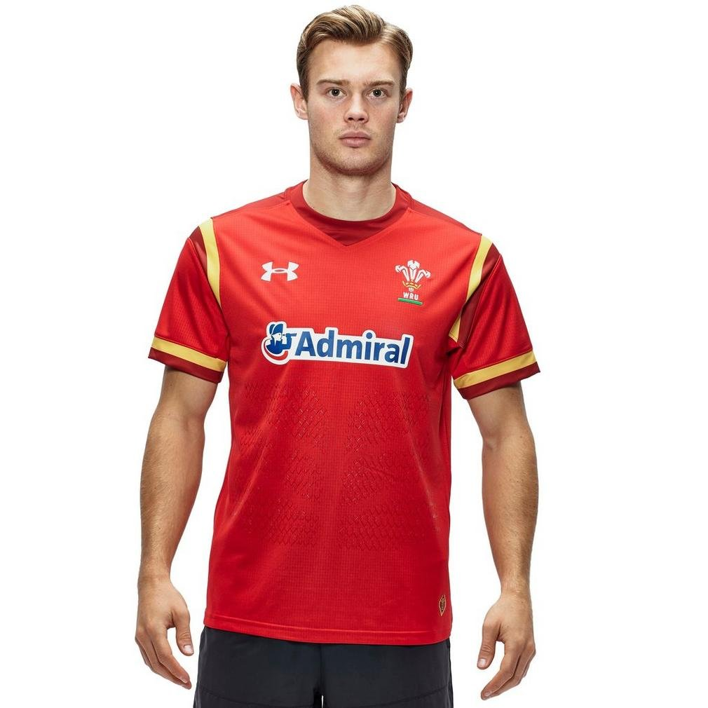 2015-2016 Wales Rugby Home WRU Supporters Shirt (Red) B013PIAHVU レッド XXL - 50-52\