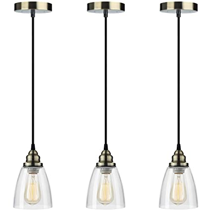 Pendant light 3 pack farmhouse edison hanging lights height pendant light 3 pack farmhouse edison hanging lights height adjustable shine hai mini aloadofball Gallery